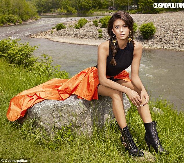 Hotter after break-up: Nina Dobrev shows off her lithe figure in the September issue of Cosmopolitan