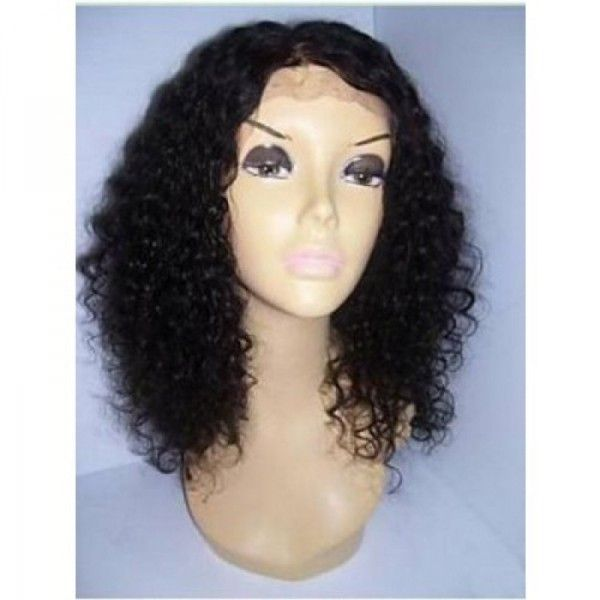 Pics Of Human Hair Lace Front Wigs 14 Quot Curly 1 Glueless