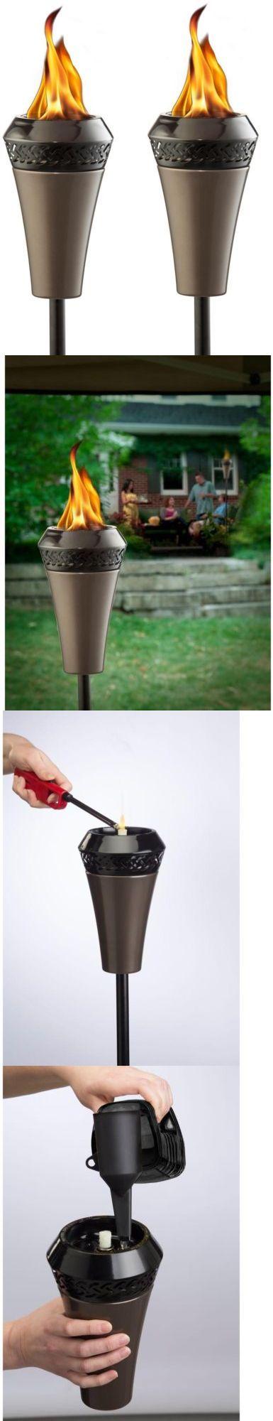 Garden and Patio Torches 183391: Tiki Hawaii Sleek Backyard Gunmetal Island King Kerosene Torch Bundle (2-Pack) -> BUY IT NOW ONLY: $51.5 on eBay!
