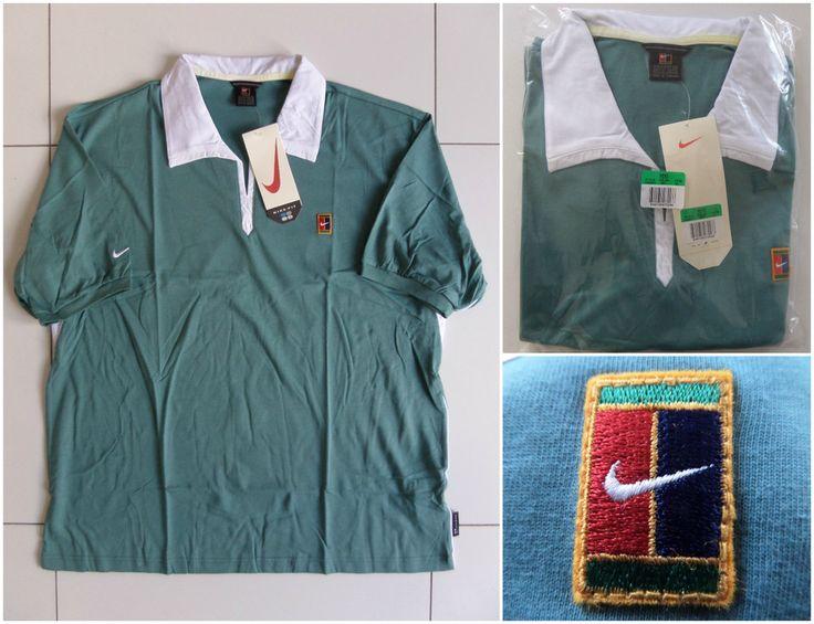 Vtg Nike Supreme Court Tennis Shirt 90s Sampras Agassi Federer Retro RARE Men XL #Nike #ShirtsTops