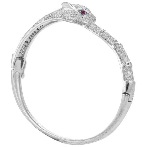 Define Jewellery Pink Silver American Diamond bracelet for Women (DFBCK0011 )