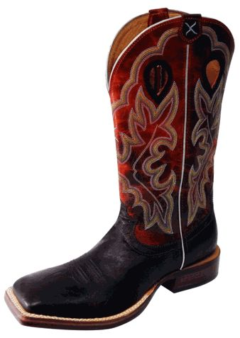 TWISTED X Men's Oiled Tobacco-smooth Ostrich/ ORANGE Square toe boots!! Reg. $289.97 ON SALE FOR $250.00 - Order Yours Today!!