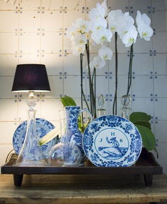 ♡ blue and white transferware