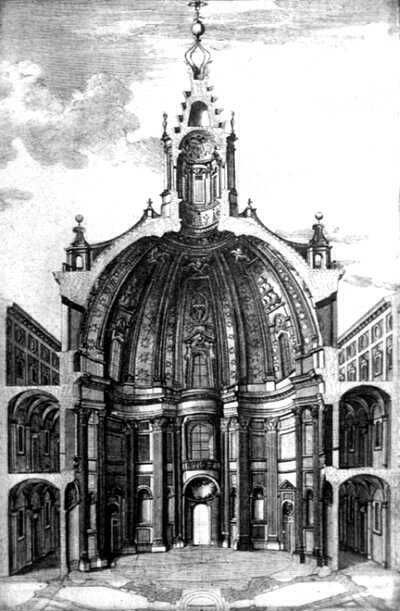 cutaway section view of F. Borromini - church of Sant'Ivo ...