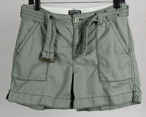 17.80$  Watch now - http://vicgf.justgood.pw/vig/item.php?t=e2hjlvq52975 - Polo Jeans Co. Ralph Lauren Women's Green Shorts & Belt Size 6, Measures 28 x 5 17.80$