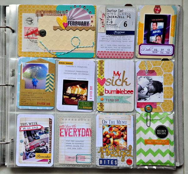 Project Life page...Gives me an idea on what to do with scrap paper I have.