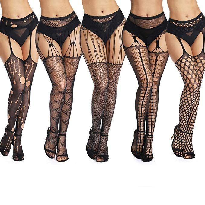 b32f60746cd636 akiido High Waist Tights Fishnet Stockings Thigh High Stockings Pantyhose  at Amazon Women's Clothing store: