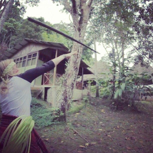 Weapons training in the Amazon! #travel #metowetrips #volunteer #inspire #summer