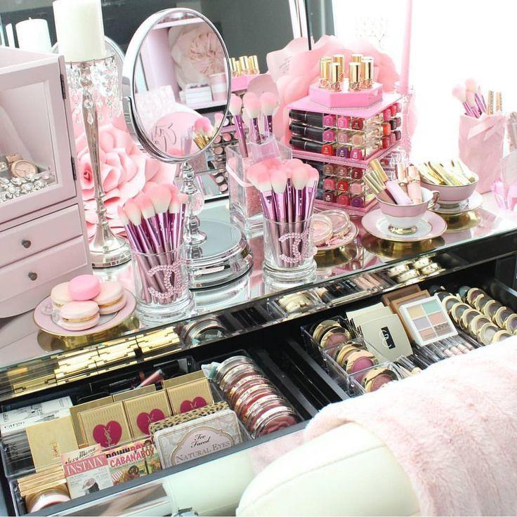 Pink overload slmissglam Makeup room Pinterest