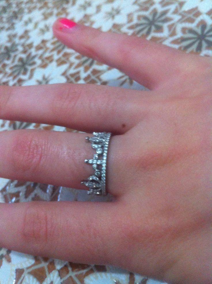 Jewel anello con corona e croce