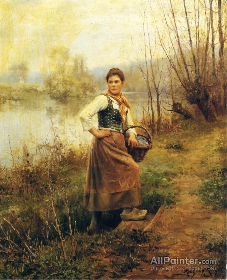 daniel ridgway knightcountry girl oil painting reproductions for sale - Nettoyer Une Peinture A L Huile Encrassee
