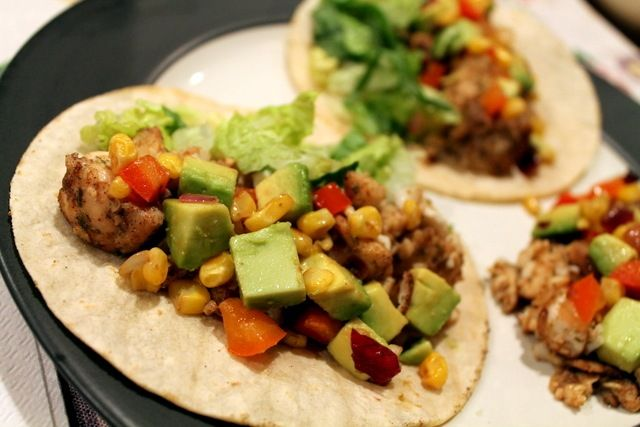 tilapia tacos with roasted corn relish | Meal Ideas | Pinterest