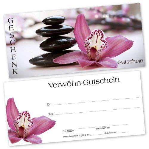 Massage Gutscheinkarte Mit Transparentem Umschlag Gutschein
