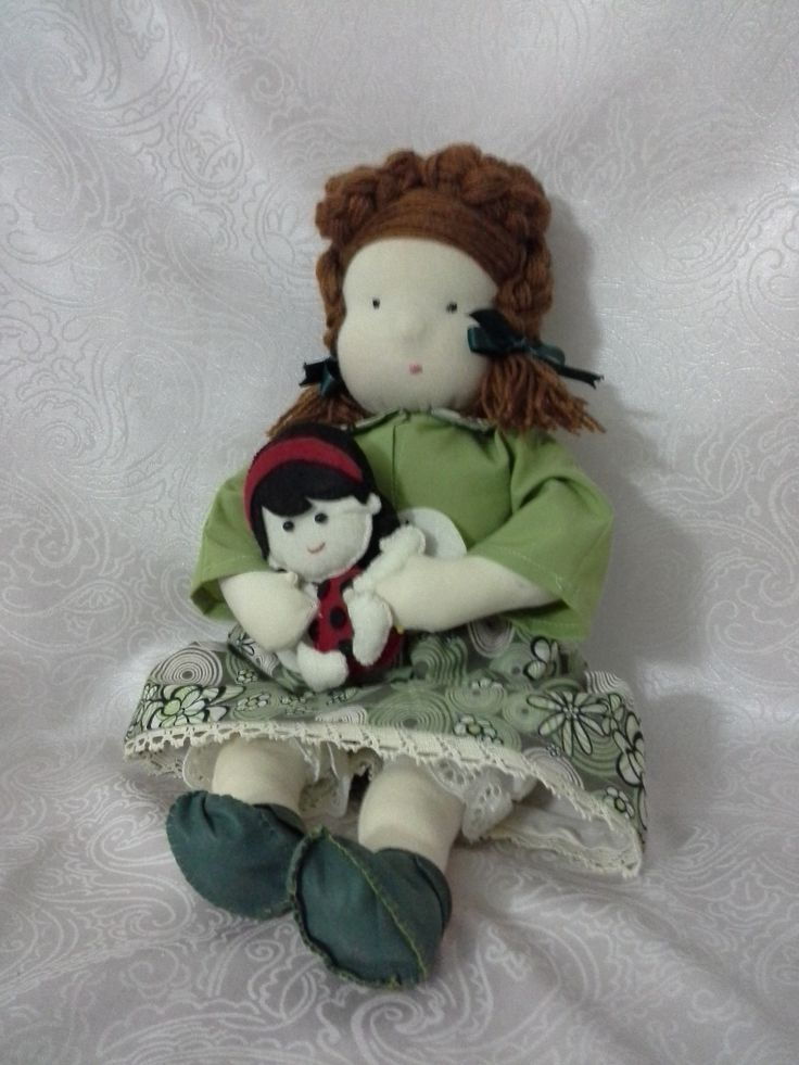 Handmade Waldorf Dolls - Mother and baby - 40 cm