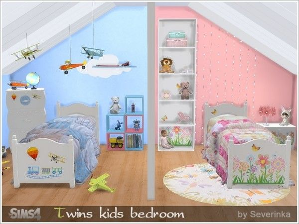 The Sims Resource: Twins bedroom • Sims 4 Downloads