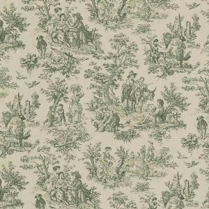 Waverly Rustic Life Sage Green Toile Cotton Fabric By The Yard 16 49