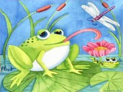 18 best images about frogs on pinterest new start - Frog cartoon wallpaper ...