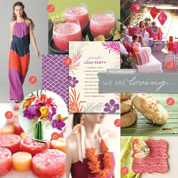 Tropical Luau Party Inspiration Board