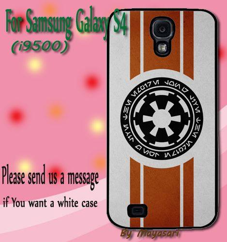 Star Wars Imperial Logo Gift Print On Hard Plastic Samsung Galaxy S4, Black Case  Show off your signature style with a cool and customizable hard shell case for your Samsung Galaxy S4 I9500. Combining