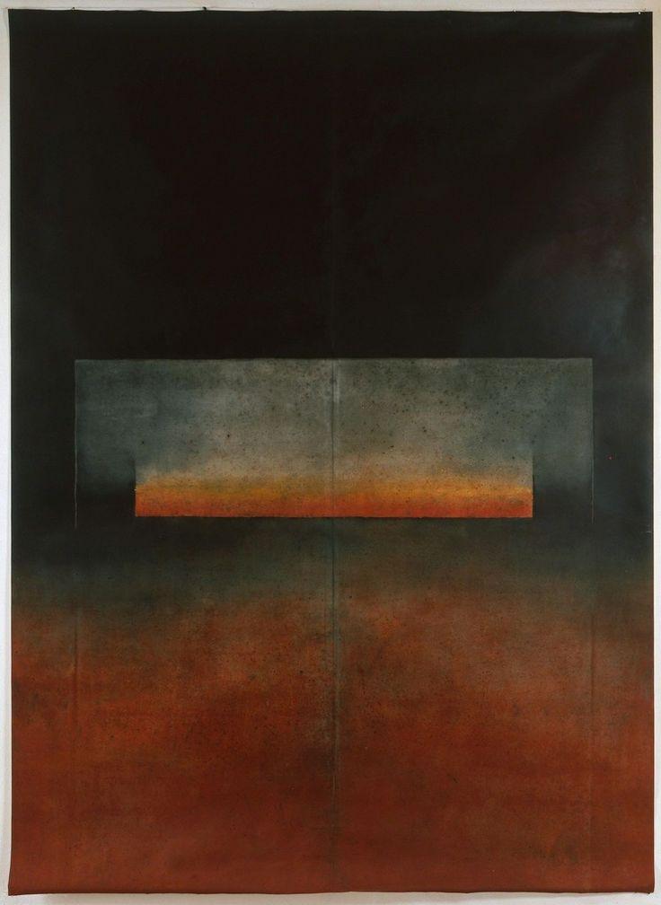 Ferle - Untitled XLI Oil on free canvas 110 1/5 × 78 7/10 in 280 × 200 cm