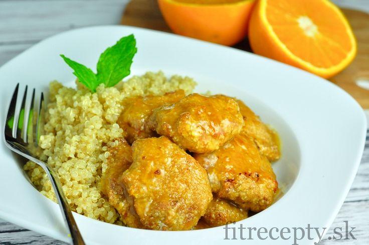 Kuracie prsia v pomarančovej omáčke s quinoou - FitRecepty