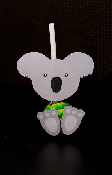 Koala pops! maak koala's van lolly's