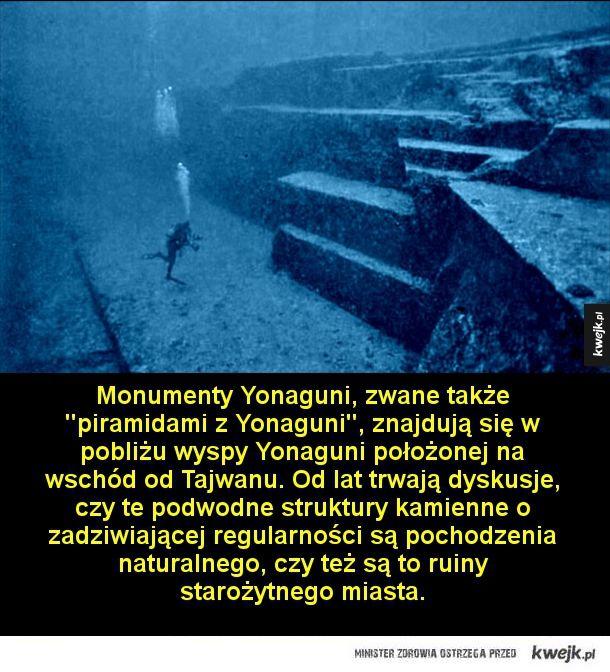 Niezwykłe miejsca warte zobaczenia - Shiprock, Nowy Meksyk  Kalb ar-Riszat, okrągła, mierząca 50 km średnicy struktura geologiczna na Saharze, nazywana Okiem Afryki.   Monumenty Yonaguni, zwane także