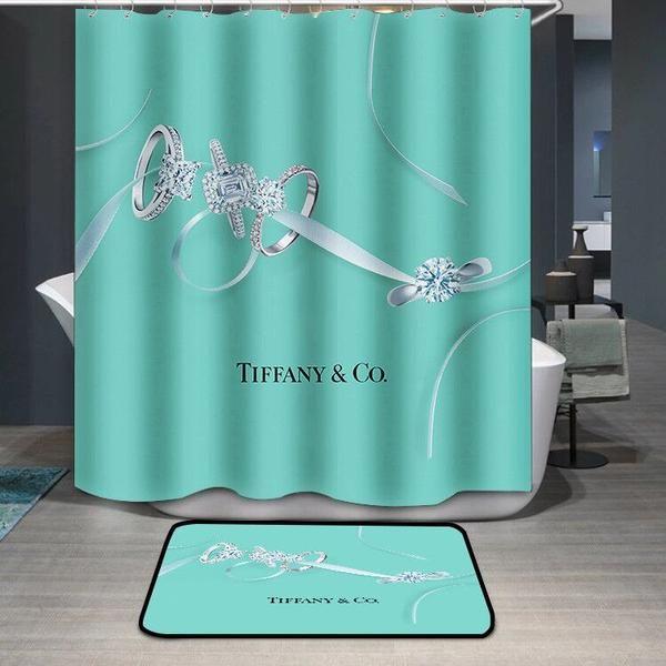 Tiffany Co Logo Custom Shower Curtain Custom Shower Curtains