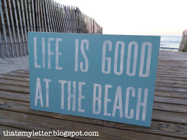 "That's My Letter: ""B"" is for Beach, handpainted sign"