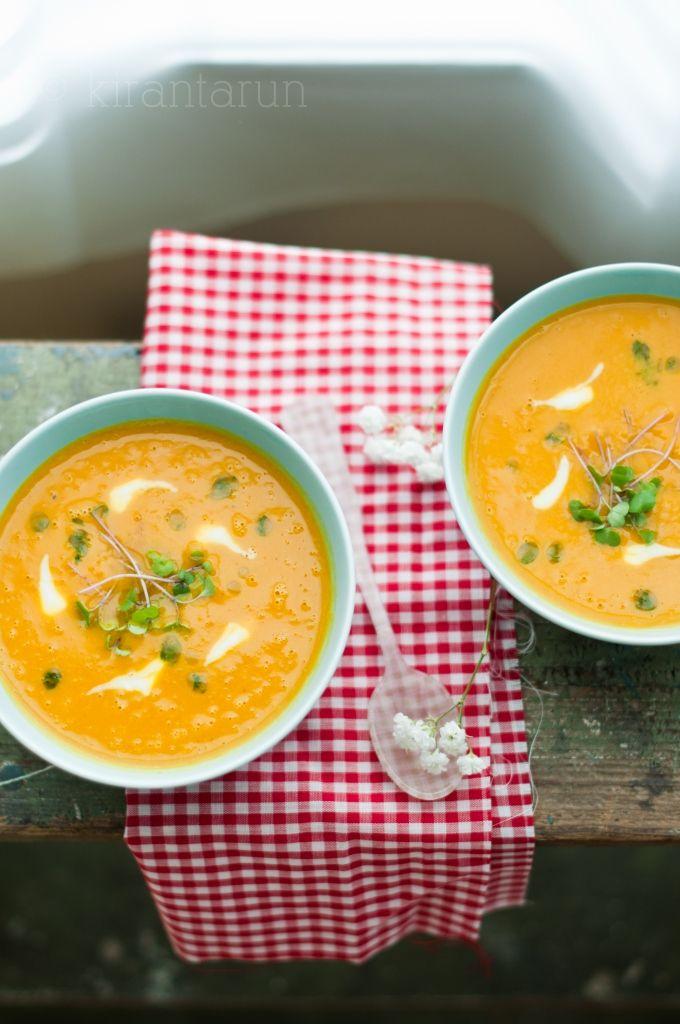 Sweet Potato Leek Soup with Parsley Oil
