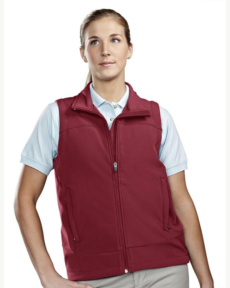 Women's Soft Shell Vest Poly Stretch Bonded . Tri mountain 6410 #Women #Trimountain #Vest #PolyStretch