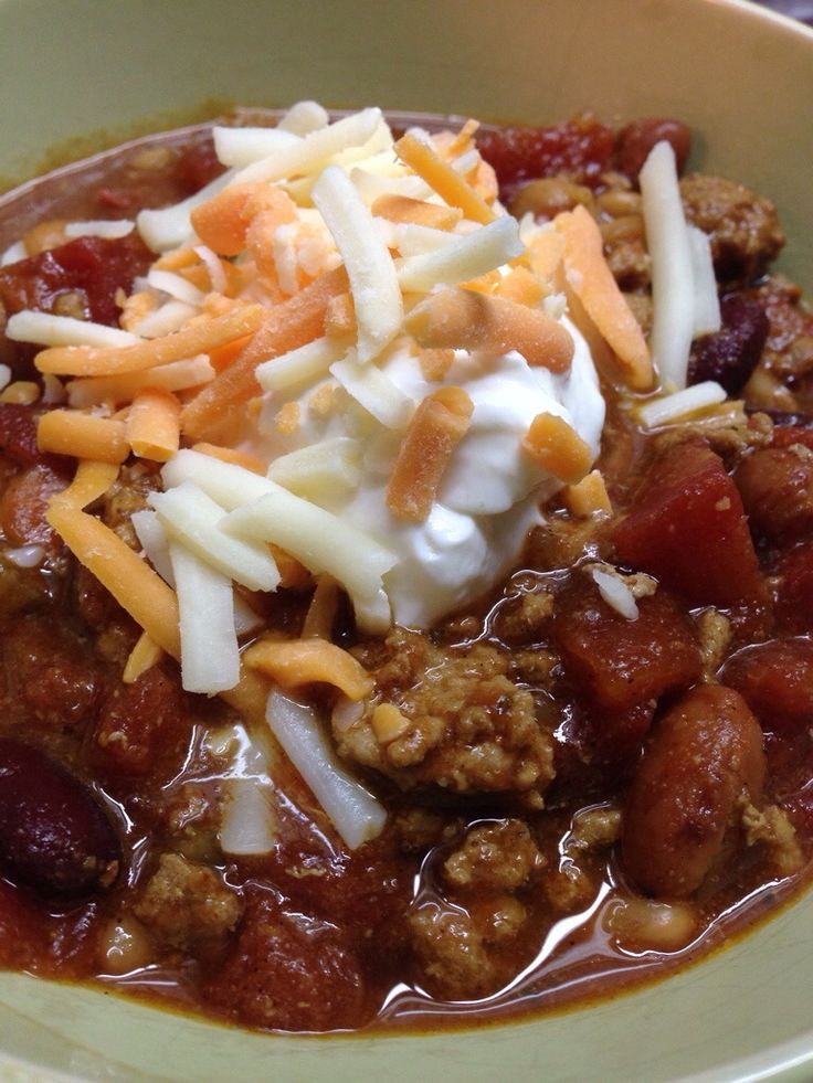 High Protein Low carb turkey chili