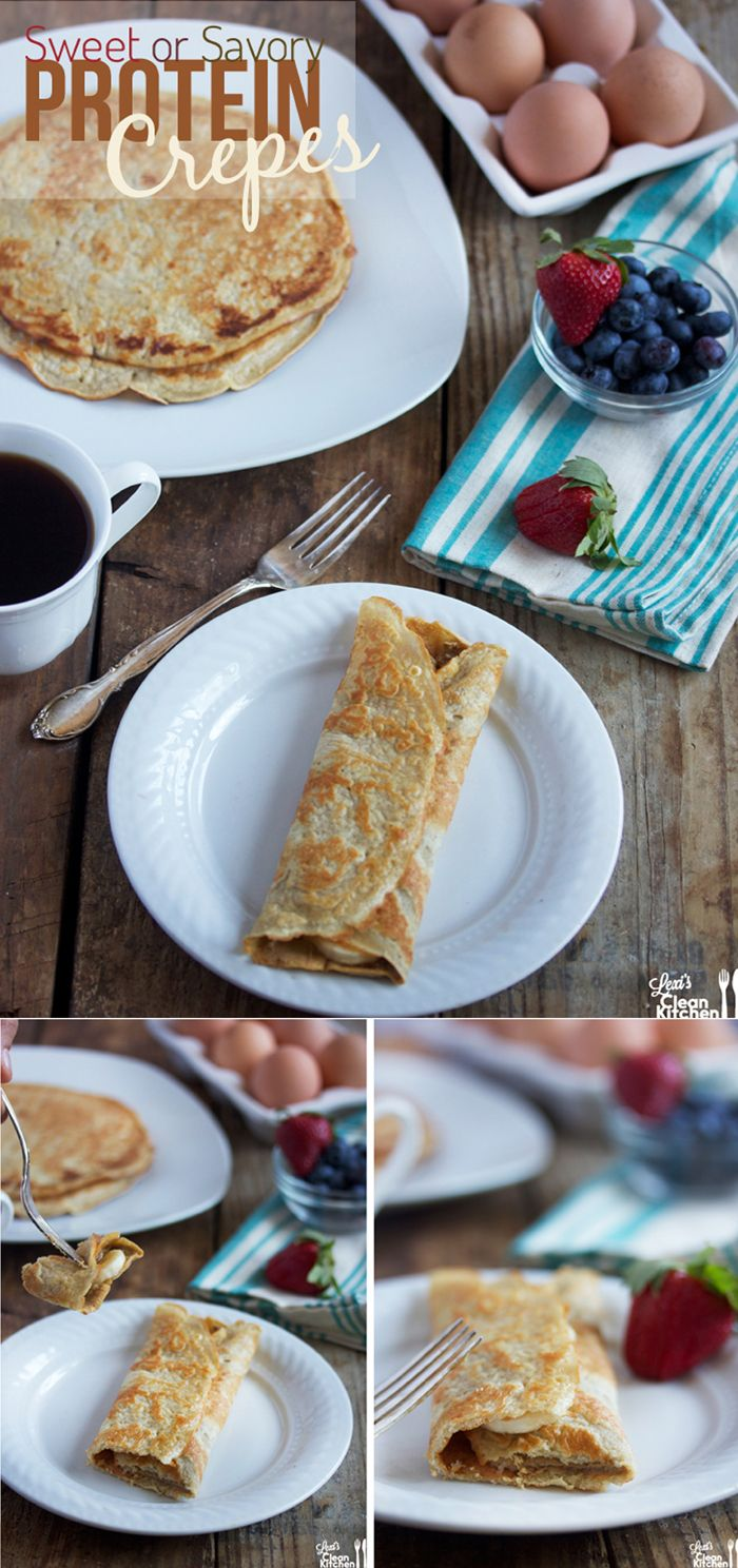 Sweet or Savory Protein Crepes {gluten-free, dairy-free, paleo-friendly}