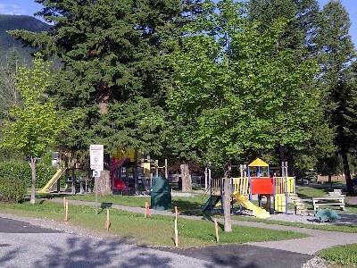Radium Hot Springs playground, a short 5 minute walk from Rundlestone