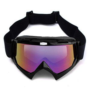 AUDEW Lunettes de Protection de Visage pour Extérieur Activité Moto/Cross/VTT/Ski/Google Anti-UV Brouillard Noir