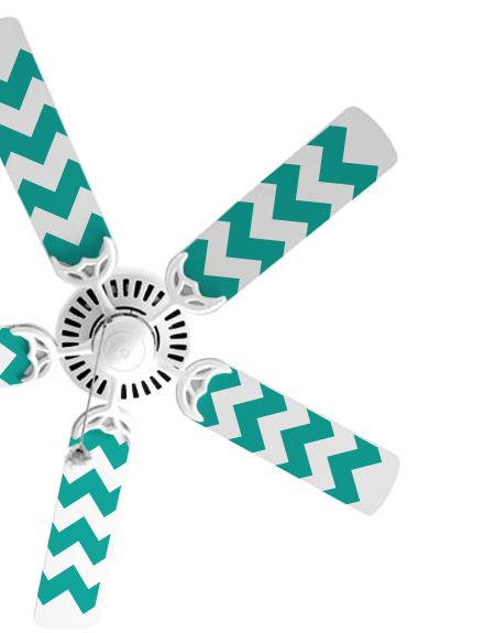 Chevron Fan Blade Decals - Trading Phrases. I hate my living room fan, and this just gives me an excuse to get a new one!!
