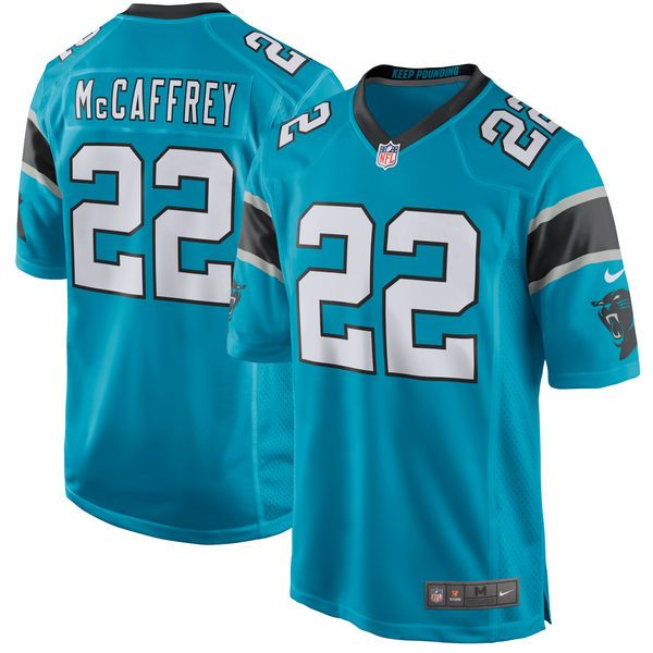 Christian McCaffrey Carolina Panthers Nike Youth 2017 Draft Pick Game Jersey - Blue - $74.99