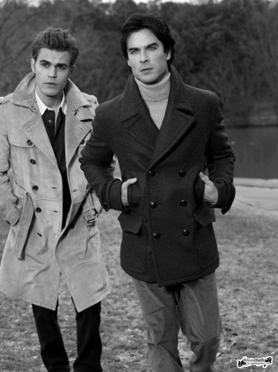 Stefan and Damon Salvatore l The Vampire Diaries.  Got the love the Salvatore Bros ♥