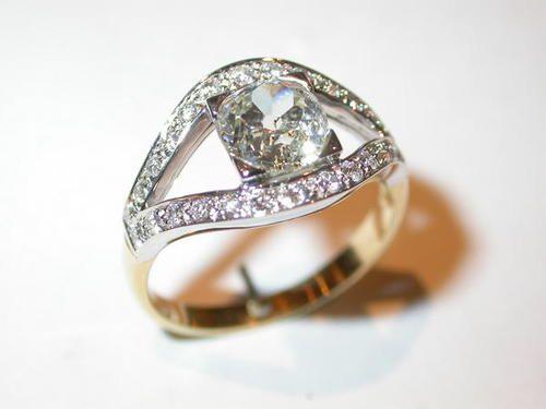 Bague or blanc, diamants