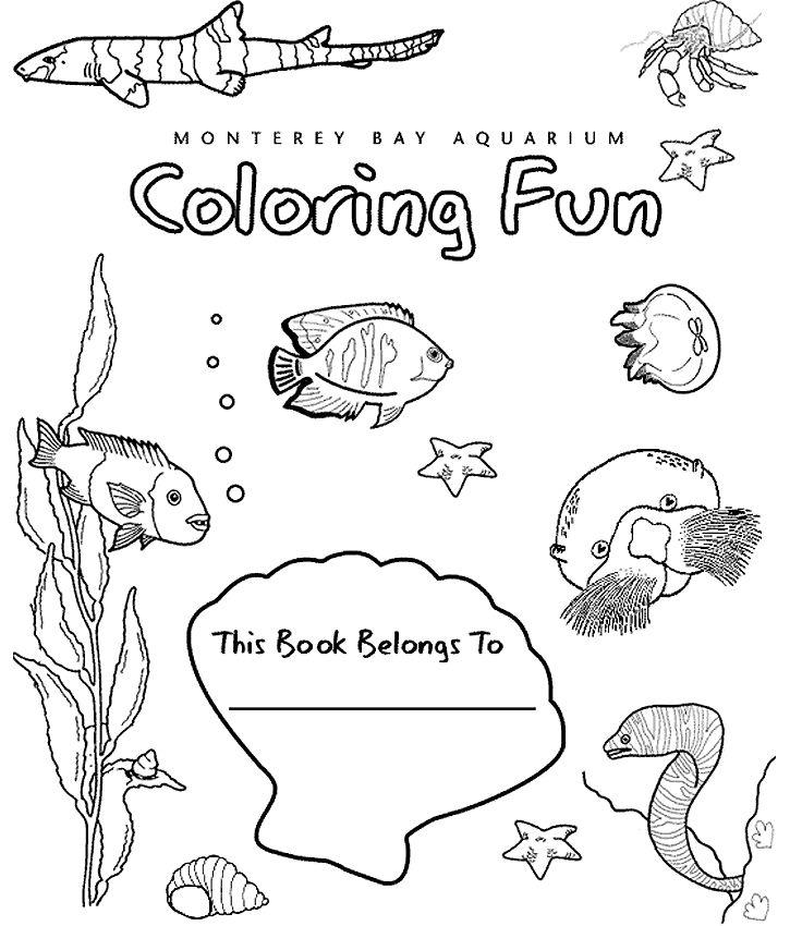 Great Coloring Book Of Ocean Creatures From The Monterey Bay Aquarium