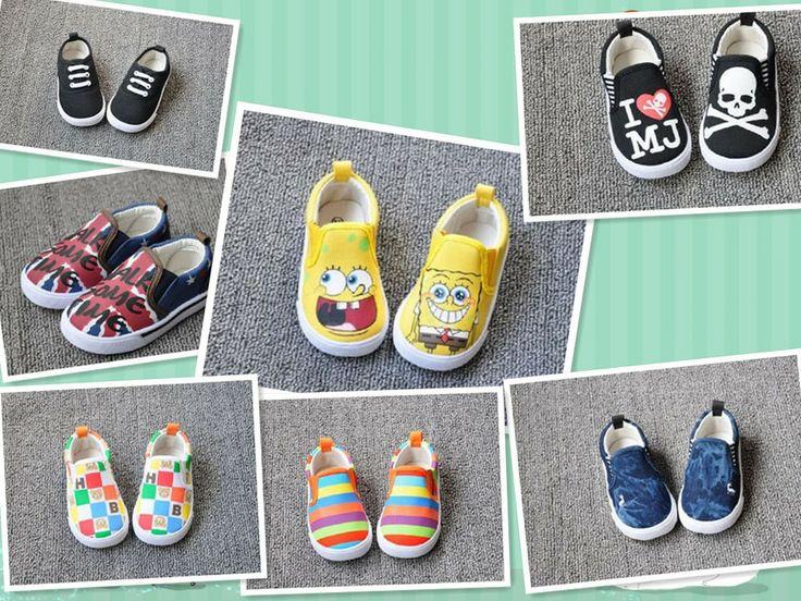 ÜCRETSİZ KARGO/Perakende Sıcak Satış Moda Karikatür Kanvas Ayakkabılar Sevimli çocuklar Spor Ayakkabı spor Ayakkabı Kauçuk insole14.8-16.8cm US $13.80