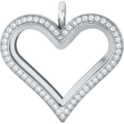 Have you been {struck} by love? Check out our beautiful new Silver Heart Living Locket with Crystals!