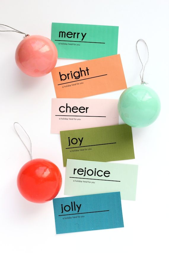 Printable Holiday Treat Labels