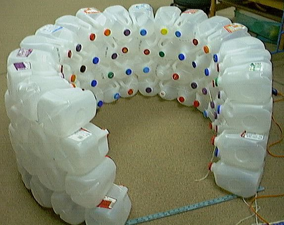 How to make a milk jug igloo dramatic play pinterest for How to build an igloo out of milk jugs