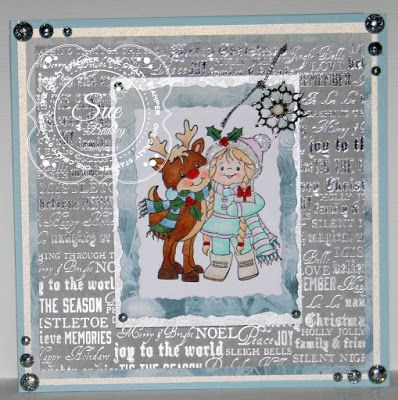 ONECRAZYSTAMPER.COM: Christmas Joy.... by DT Sue using High Hopes Stamps