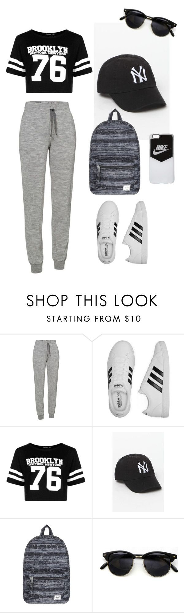 """*-*"" by safaa-as on Polyvore featuring mode, Icebreaker, adidas, Boohoo, American Needle, Herschel Supply Co. et NIKE"