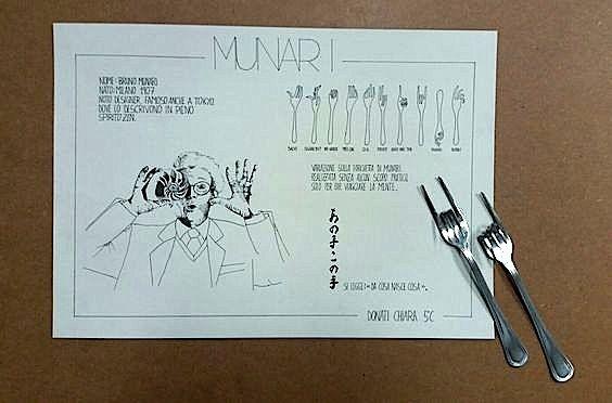 I protagonisti del Design: Bruno Munari. Scheda e forchette modellate a cura di Chiara Donati cl.5C a.s.2015/16 Ind. Design, Liceo artistico Stagi Pietrasanta.