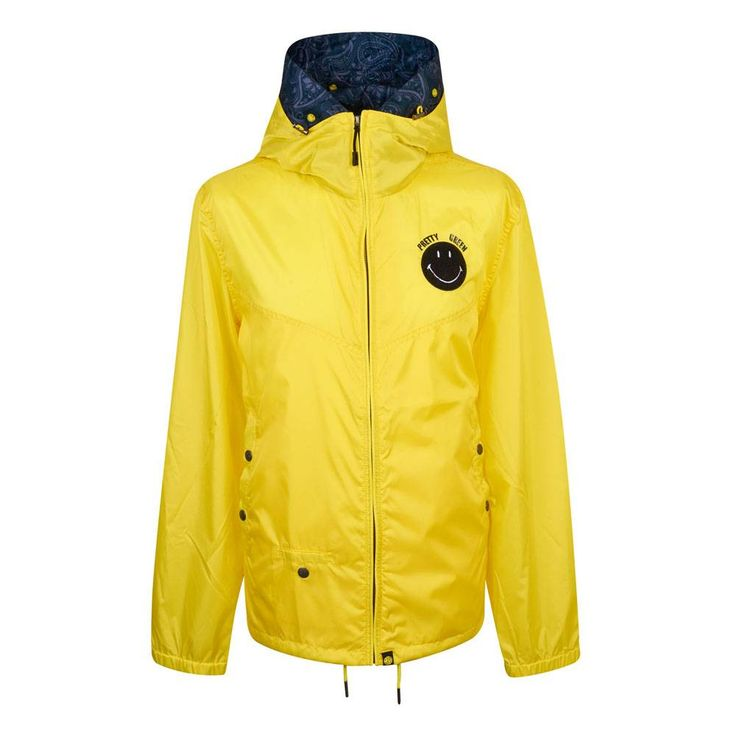 To celebrate Smiley's 45th anniversary, Pretty Green and Smiley have joined forces to celebrate Britain's unique music festival culture with a capsule collection produced in limited numbers. — Smiley X Pretty Green — Exceptionally lightweight — Cut in a slim fit — Front zip through fastening — Hooded design with removable hood liner — Decorated with contrast smiley motifs — Three pocket construction — Snap stud pocket fastening — Elasticated cuff edge — Cotton hem draw cords — Fini...