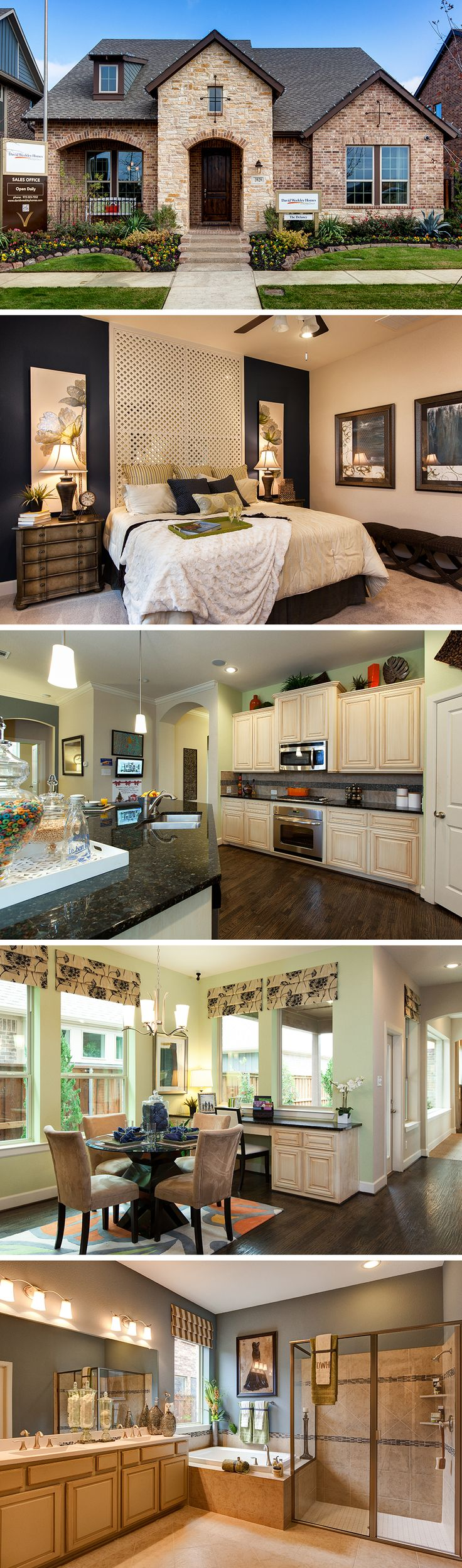 The  Delaney by David Weekley Homes in Viridian Executive is a 6 bedroom 5 bathroom home that features a large open kitchen and family room, a 3 car garage and a large owners retreat. Custom home options include an optional extra room on the 2nd story, a covered porch and a larger shower in the owners retreat.