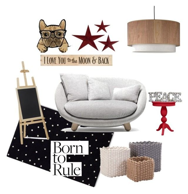 """""""Born to rule"""" by ana-novelo on Polyvore featuring interior, interiors, interior design, hogar, home decor, interior decorating, DutchCrafters, Oliver Gal Artist Co., Kate Spade y Moooi"""